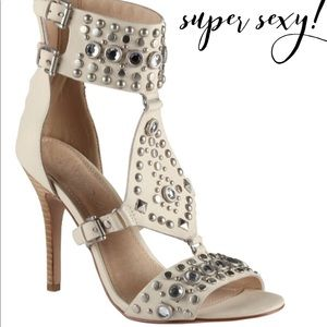Super Sexy Studded Leather Heels